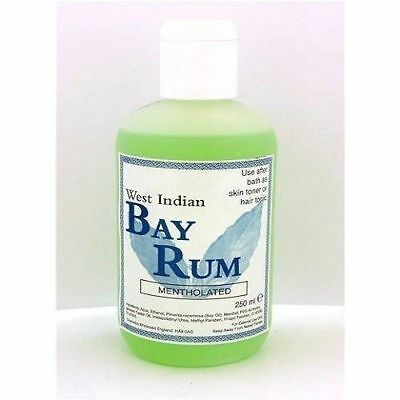 West Indian Bay Rum Hair OR Skin Tonic /250ml Mentholated