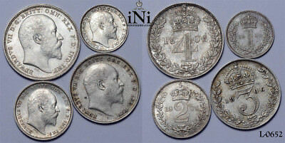 iNi  Great Britain, Edward VII, Maundy Set 1906, UNC