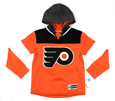 NWT REEBOK PHILADELPHIA FLYERS Unisex NHL Face Off Jersey Hoodie ~ S (8) Youth