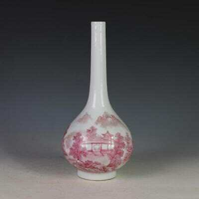 Nice Chinese Antique Rouge Red Porcelain Vase with Mark