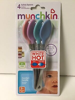 Munchkin White Hot Infant Safety Spoons Set of 4