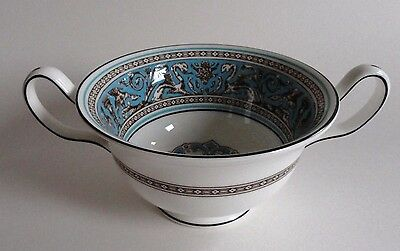 Wedgwood Florentine W2714 Turquoise Chocolate Cup / Two Handled Cup