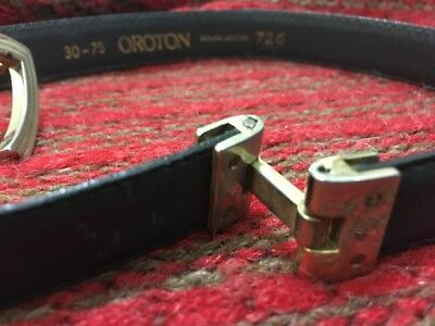 Oroton Vintage Navy Leather Belt 80s Original Near New Small 30