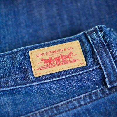 Vintage Levi 553 Jeans Bootcut Zip Fly Blue (Patch W32 L36) W 32 L 36 US 10