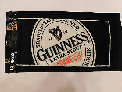 Guinness extra stout beer Irish Ireland English Label Bar Hand Towel