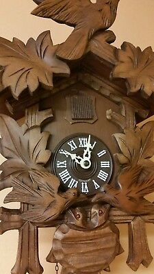 ANIMATED  GERMAN  CUCKOO CLOCK / Fully  Servised /Perfect Working Order