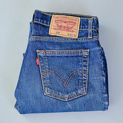 Vintage Levi 529 Jeans Bootcut Zip Fly Blue (Patch W30 L32) W 30 L 31 US 8