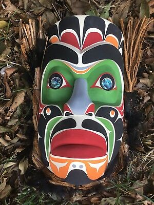First Nations Northwest Coast Komakwa mask