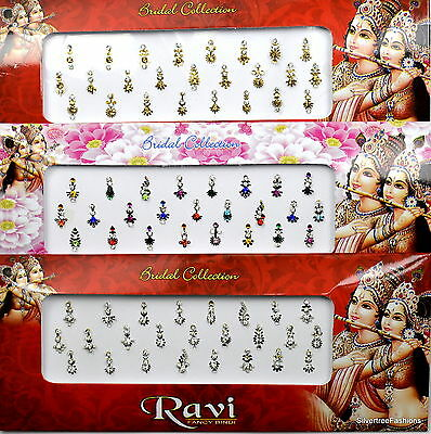 1 PACK of MULTI **Long Multi Pack 25's** Indian BRIDAL Gem TIKKA Festival BINDI