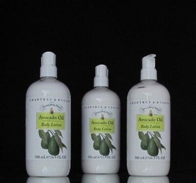 Crabtree Evelyn Body Lotion Avocado 500 ml 16.9 oz Drawn from Nature Lot of 3