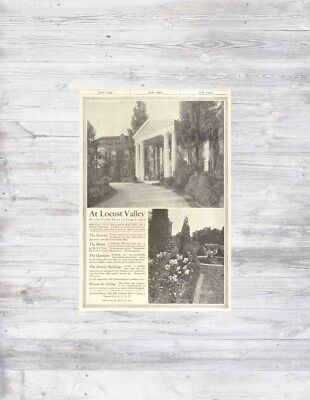 Antique 1912 New York LOCUST VALLEY Long Island Mansion Home Sale Real Estate Ad