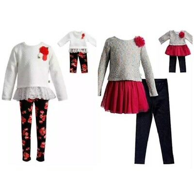 NWT! Dollie & Me Girls' Legging Set & Matching Doll Outfit