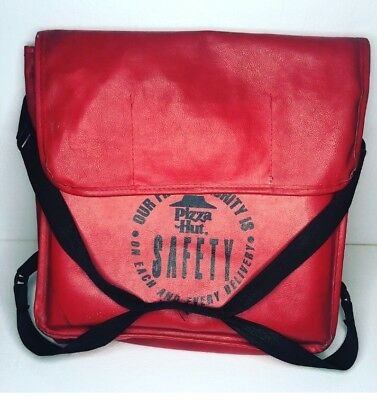 Vintage Pizza Hut Delivery Hot Bag - Holds Two Pizzas Pizza Hut Logo w/Handle