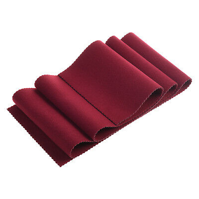 Soft Wood Piano Key Keyboard Protective Anti-Dust Cover, Burgundy Color