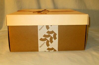 "Vintage Hat Box Daytons Minnesota 1940s Square Cardboard With Tie 14"" x 14"""