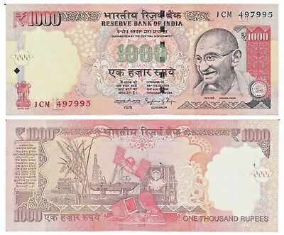INDIA, 1000 Rupees Note, 2015