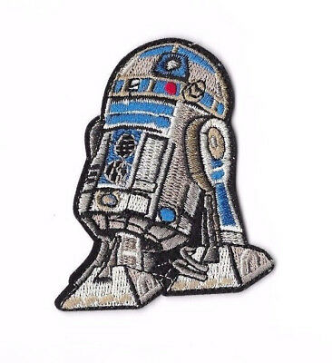 R2-D2 Iron on / Sew on Patch Embroidered Badge Motif Movie Star Wars PT144