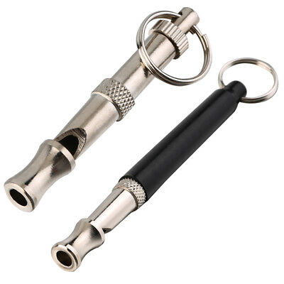 New Pet Dog Training Obedience Whistle Supersonic Sound Pitch Black Quiet EB