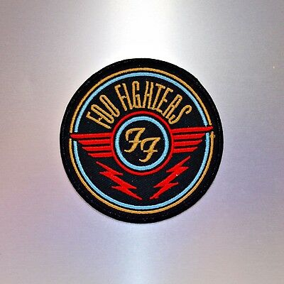 Foo Fighters Patch — Iron On Badge Embroidered Motif — Band Music Rock FF