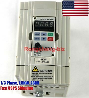 New VFD015M21A Inverter 1.5KW 230V 1/3 Phase Frequency Converter for Delta