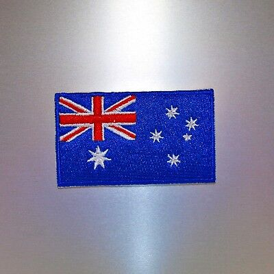 Australian Flag Patch (Mini) — Iron On Badge Embroidered Motif — Australia Aus