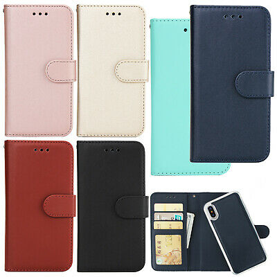 Detachable Magnet Leather Wallet Card Case Cover For iPhone X 7 8 Plus XS Max XR
