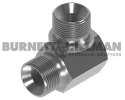 Burnett & Hillman BSP Male x BSP male 90° Compact Elbow for Bonded Seal Adaptor