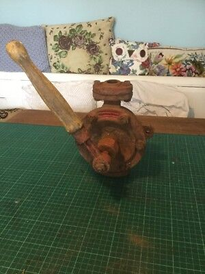 Vintage English Made cast Hand water Fuel Oil Pump Bilge No1 Free Uk P&P