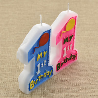 1 Pc 1st Birthday Candle Boy Girl Party Supplies Cake Decoration Accessories