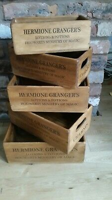 harry potter vintage style storage boxes HERMIONE GRANGERS LOTIONS AND POTIONS