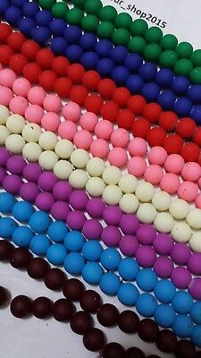 50 x Round Loose Glass Spacer Bead For Jewellery Making arts & Craft 10mm