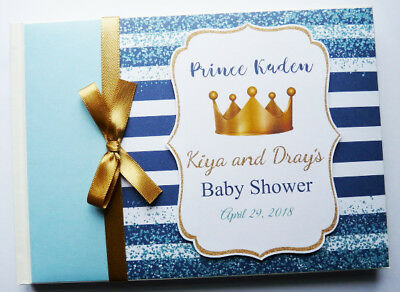 Personalised Prince/boy /first / 1St Birthday Guest Book -  Any Design