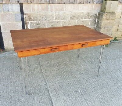 Mahogany Desk Originally from Oxford Bodlian Library with Teak top