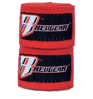 Revgear Hand Wraps 4.5M Red Boxing Kickboxing Muay Thai Striking MMA Protection