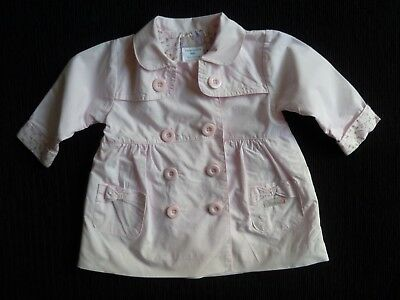 Baby clothes GIRL 0-3m Dizzy Daisy pink cotton lightweight coat/jacket SEE SHOP!
