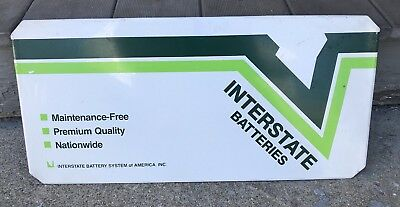 Vintage, Interstate Batteries Sign!!!! Double Sided!!! Rack Free Shipping