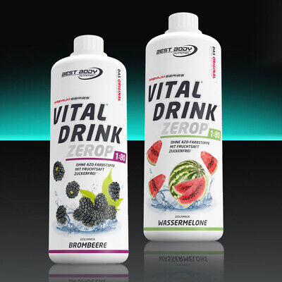 10,00€/Ltr. Best Body Low Carb Vital Drink 2 x 1000ml Getränkesirup Sirup vegan