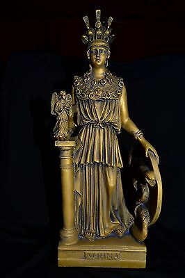 Athena Statue,Ancient Greek Goddess of Wisdom(BRONZE PATINA NEW)made in Greece