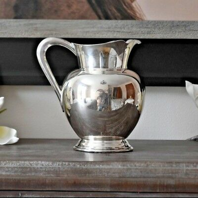 """8"""" Silver Decorative Pitcher - Crafted by Reed & Barton"""