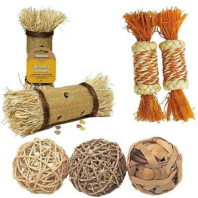 Rosewood Corn Seagrass Sissal Loofa Gnaw Chew Eat Throw Destroy Activity Toys