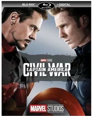 Marvel Studios Captain America Civil War(Blu-Ray+Digital Hd)No Slipcover New
