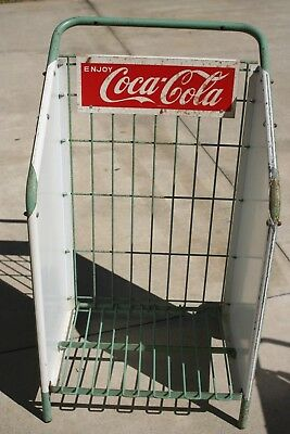 Coca Cola Crate Flat Roller Cart Store Display Have 2 Avaliable