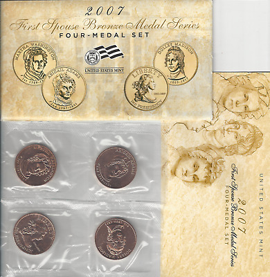 2007 First Spouse Bronze Medal US Mint MULE set - Presidential Wives