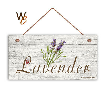 """Lavender Sign, Rustic Style Garden Sign,  5"""" x 10"""" Wood Herb Sign, Kitchen"""