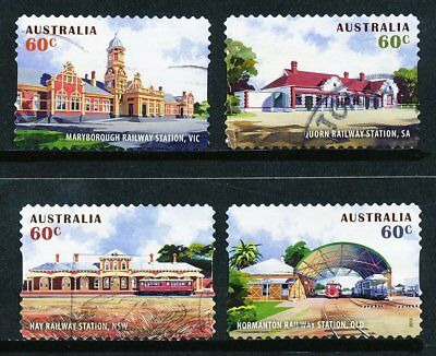 Australian 2013 Historic Railway Stations, set of 4 S/A stamps, used