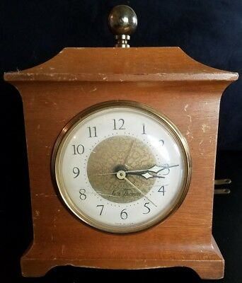 Vintage Seth Thomas, Small Wooden Mantel Alarm Clock, USA