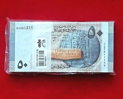 SYRIA  Bundle of 100 Bankotes 50 Syrian Pounds 2009  / UNC