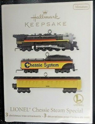 Nib 2012 Hallmark Keepsake Ornament Lionel Chessie Steam Special 3 Miniature New
