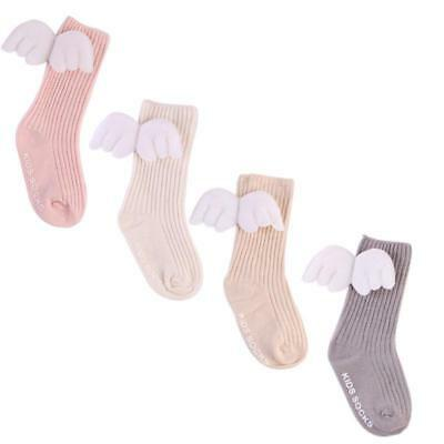 Baby Cotton Warm Angel Lovely Wings Stockings Knee Length Tight Socks 0-4 Years