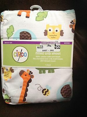 Circo Jungle Fitted Crib Sheet toddler bed sheet NEW Baby Animals